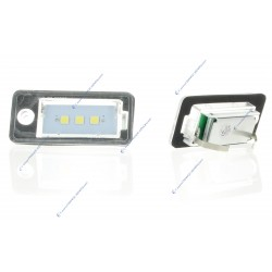 Licence plate 3 SMD LED VAG AUDI A3 8P, A4 B7, A8, Q7, A6 C6