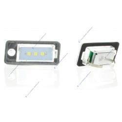 Pack modules plaque arrière VAG AUDI A3 8P, A4 B7, A8, Q7, A6 C6 - 3 LED SMD