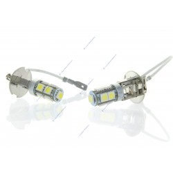 2 x h3 24v bulbs - led smd LED 9