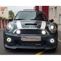 DRL + RALLY LIGHT FULL LED Mini R55 R56 R57 R60 06-13