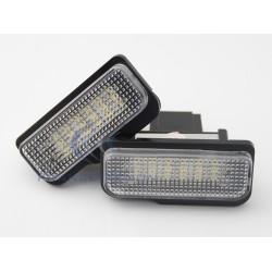 Pack module plaque arrière Mercedes W203 5D W211 W219 R171 - BLANC 6000K