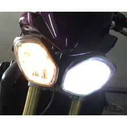 Kit LED H4 / BA20D / HS1 PX43T / Moto Head Light 40/45W - Haut de Gamme