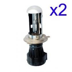 2 x Ampoule H4-3 55W 6000K xénon pour kit HID