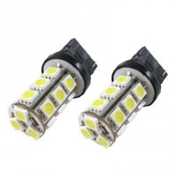 2 x Ampoules 13 LED SMD - T20 - Blanc