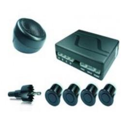 Radar de recul 4 capteurs noir - buzzer