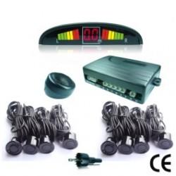 sensori di parcheggio Radar 8 nero - con display