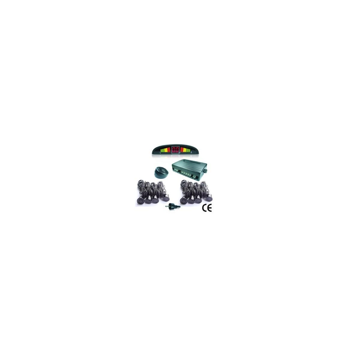 Parkplatz Radar 8 Sensoren - mit Display schwarz
