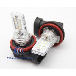 2 x 12 LED bulbs ss hp - h8 - White
