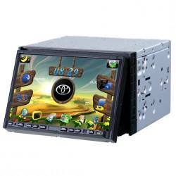 Autoradio DVD GPS 2-DIN - FX-P74 Tactile - Façade détachable