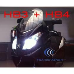 Pack xenon HB3 +HB4 6000K - moto