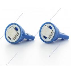 X 2 Lampen 1 SMD LED blau - t10 W5W