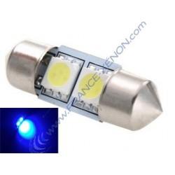 1 x bulb C3W - 2 anti-Fehler blauer LEDs - 31mm shuttle