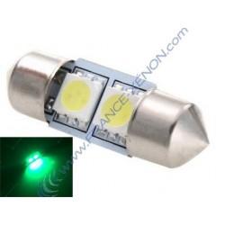 1 x bulb C3W - 2 anti-Fehler grüne LEDs - 31mm shuttle
