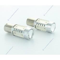 2 X Birnen 6 LED CREE + HP 30W - P21W - Premium