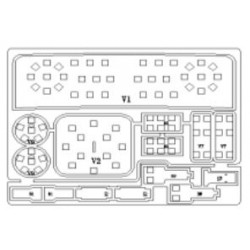 all'interno ultimo LED Pack - Skoda supber 3T - Bianco