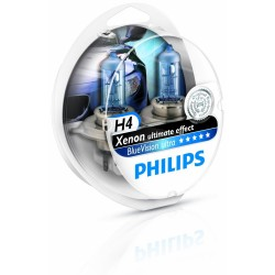 2 x Ampoules H4 4000K Philips BLUEVISION ULTRA