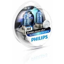 2 x bulbs h4 4000k Philips ultra bluevision