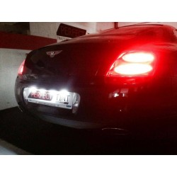 Pack plaque d'immatriculation LED - Bentley Continental GT - Luxe Blanc