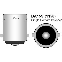 Bulb 24 SMD LED - P21W / BA15s / t25 - White