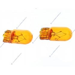 2 x T10 WY5W Amber - Ergots T10