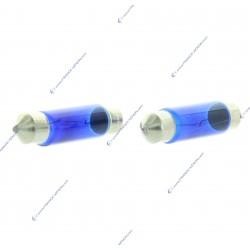2 x bulb C10W hod pure white 6000k - 42 mm