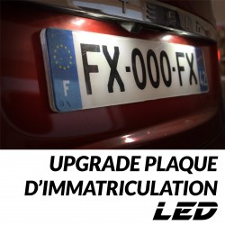 Upgrade LED plaque immatriculation SOLENZA - DACIA