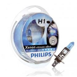 Bulbs 2 x h1 4000k Philips ultra bluevision