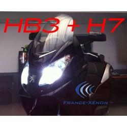 Pack xenon HB3 +H7 8000K - moto
