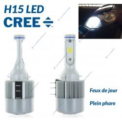 2 x Bulbs H15 LED 36W - 3800Lm - High End
