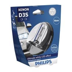 Ampoule D3S Philips 42403WHV2S1 xénon whitevision Gen2, sous blister