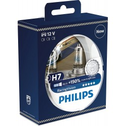Pack 2 h7 bulbs philips racingvision 150% h7 12972rvs2