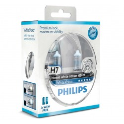 Pack 2 ampoules H7 Philips WhiteVision +60%  +2 Veilleuses WhiteVision