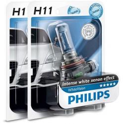 Pack 2 philips Glühbirnen H11 WhiteVision 55w + 60%