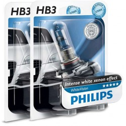 Pack 2 ampoules HB3 9005 Philips WhiteVision +60% 65W