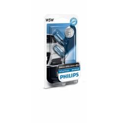 2 x ampoule W5W Philips WhiteVision  4300K - Ergots T10