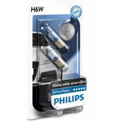 2 x Philips Lampe H6W WhiteVision 4300K - ba9xs Nasen
