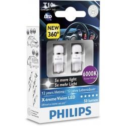 2 Birnen t10 philips x-treme ultinon Vision führte 6000k
