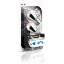 2 bulbs Philips PY21W Silver Vision