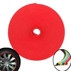 3d sticker edging for 4 wheels - 8m - Red