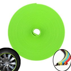 3d sticker edging for 4 wheels - 8m - green