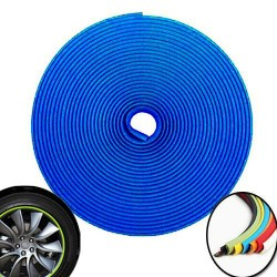 3d sticker edging for 4 wheels - 8m - blue