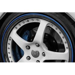 3D-Sticker für 4 Räder Borte - 8m - blau