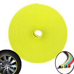 3D Aufkleber für 4 Räder Borte - 8m - Yellow