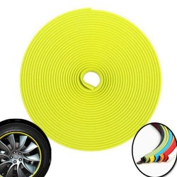 3d sticker edging for 4 wheels - 8m - Yellow