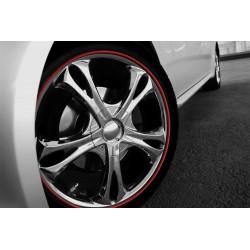 8M Tire Glue Sticker Car Wheel Hub Tire - Yellow