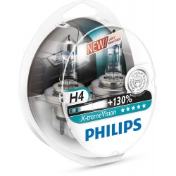 Pack 2 ampoules H4 Philips X-tremVision +130%