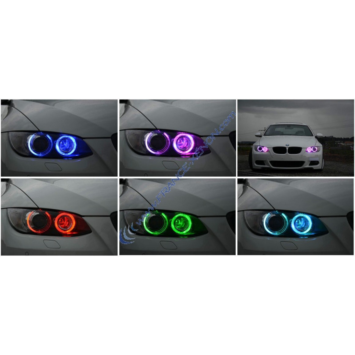Colors Changing Rgb Led Marker H8 E92 Angel Eye 30w Canbus For Bmw E60 E61 E63 E64 E87 X3 E39
