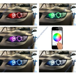 Colors changing RGB LED marker E39 E57 E60 E81 angel eye 30w canbus for bmw E60 E61 E63 E64 E87 X3 E39 E53 E65 E66