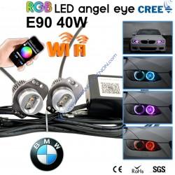led marker rgb e91 e90  led angel eye Wifi phone control rgbw 20W