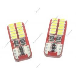 2 x 24 lampadine del LED (3014) CANbus - t10 W5W